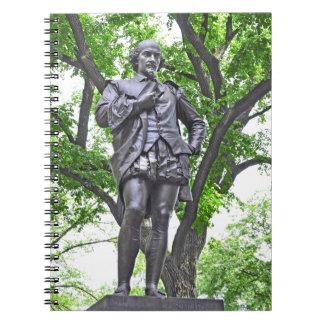 William Shakespeare - Central Park Spiral Notebook