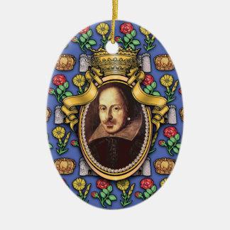 William Shakespeare Ceramic Oval Ornament