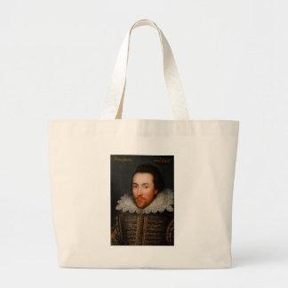 William Shakespeare Cobbe Portrait Large Tote Bag