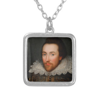 William Shakespeare Cobbe Portrait Silver Plated Necklace