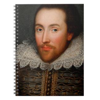 William Shakespeare Cobbe Portrait Spiral Note Books