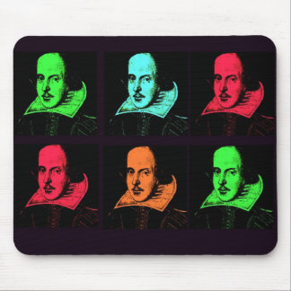 William Shakespeare Collage Mouse Pad