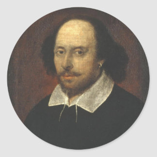 William Shakespeare Color Chandos Portrait Sticker