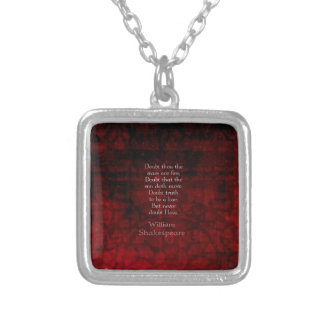 William Shakespeare Famous Love Quote Silver Plated Necklace