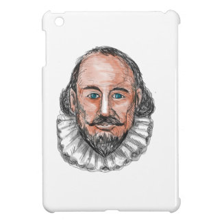 William Shakespeare Head Watercolor iPad Mini Covers