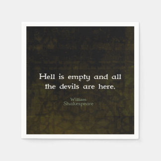 William Shakespeare Humorous Witty Quotation Disposable Napkins