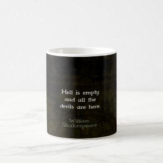 William Shakespeare Humorous Witty Quotation Mugs