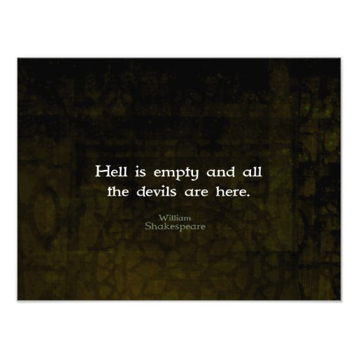 William Shakespeare Humorous Witty Quotation Photo Print