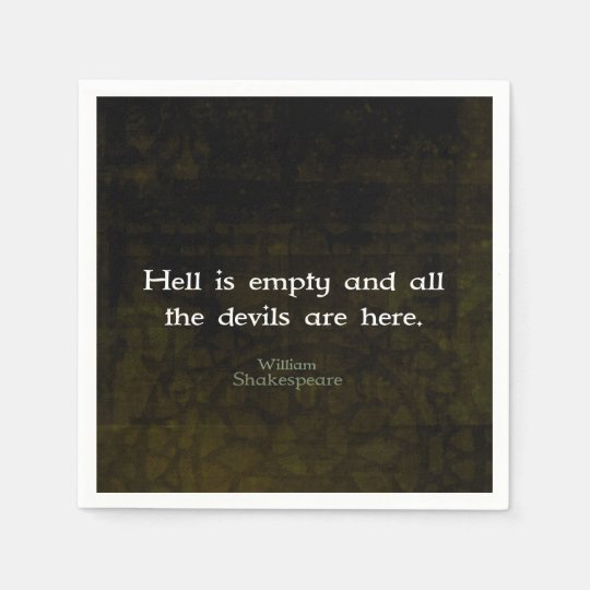 William Shakespeare Humourous Witty Quotation Disposable Napkins