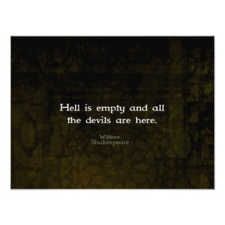 William Shakespeare Humourous Witty Quotation Photograph