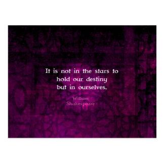 William Shakespeare Inspirational Destiny Quote Postcard