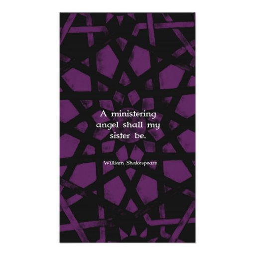 William Shakespeare Inspirational Sister Quote Photo Print