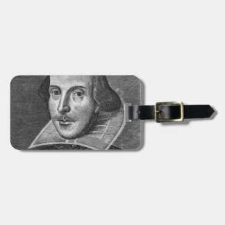 William Shakespeare Luggage Tag