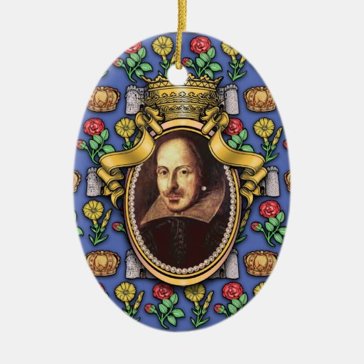 William Shakespeare Christmas Ornaments