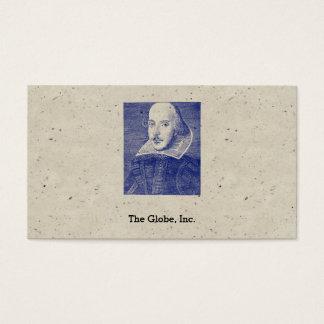 William Shakespeare Portrait First Folio Business Card