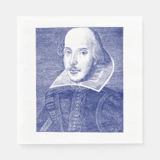 William Shakespeare Portrait First Folio Napkin