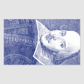 William Shakespeare Portrait from First Folio Sticker