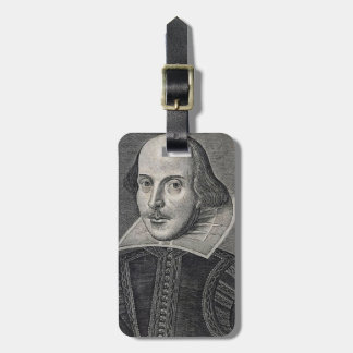 William Shakespeare Portrait Luggage Tag