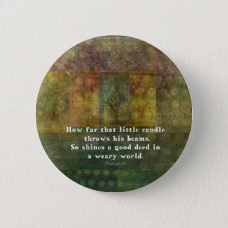 William Shakespeare quotation with painting 2 Inch Round Button