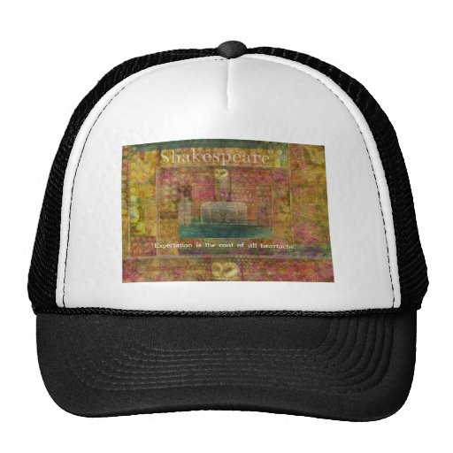 William Shakespeare Quote about Expectations Mesh Hat