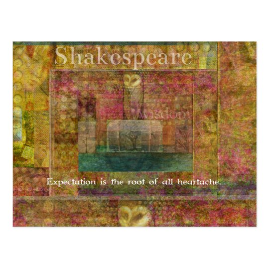 William Shakespeare Quote about Expectations Postcard
