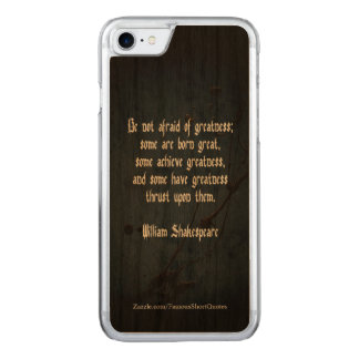 William Shakespeare Quote - Greatness Carved iPhone 8/7 Case
