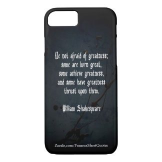 William Shakespeare Quote - Greatness Case-Mate iPhone Case