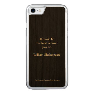 William Shakespeare Quote - Love Carved iPhone 8/7 Case