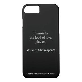 William Shakespeare Quote - Love iPhone 8/7 Case