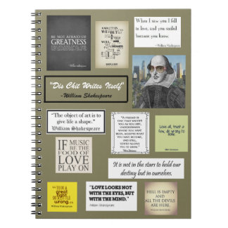 William Shakespeare Quotes Spiral Note Book