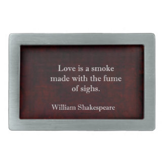William Shakespeare Romeo and Juliet LOVE Quote Belt Buckles
