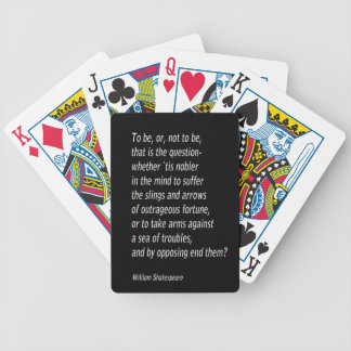 William Shakespeare`s `Hamlet` Bicycle Playing Cards