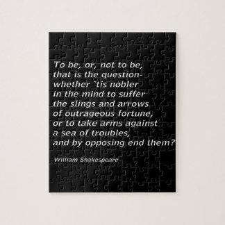 William Shakespeare`s `Hamlet` Jigsaw Puzzle