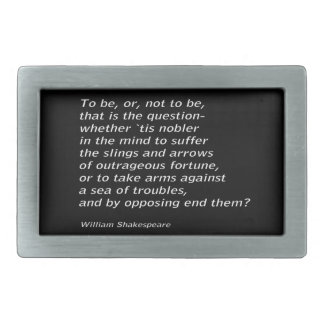 William Shakespeare`s `Hamlet` Rectangular Belt Buckle