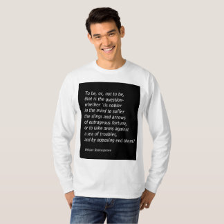 William Shakespeare`s `Hamlet` T-Shirt