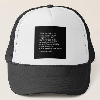 William Shakespeare`s `Hamlet` Trucker Hat