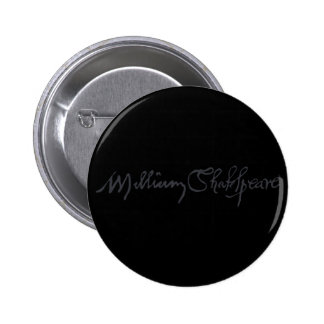 William Shakespeare Signature 2 Inch Round Button