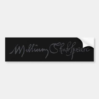 William Shakespeare Signature Bumper Sticker