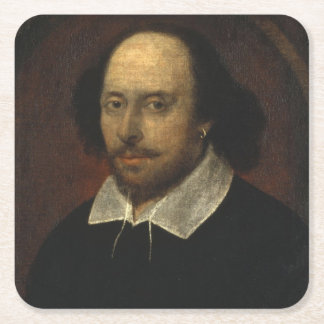 William Shakespeare Square Paper Coaster