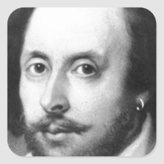 William Shakespeare Square Sticker