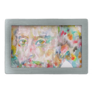 william shakespeare - watercolor portrait.1 belt buckle