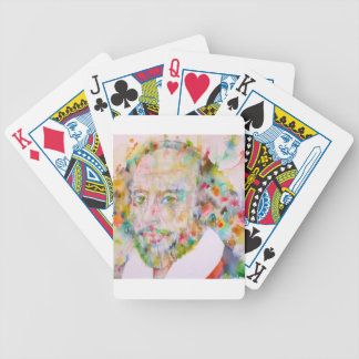 william shakespeare - watercolor portrait.1 bicycle playing cards