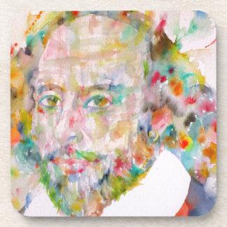 william shakespeare - watercolor portrait.1 coaster