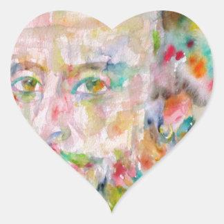 william shakespeare - watercolor portrait.1 heart sticker