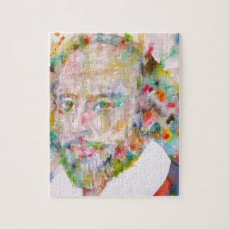 william shakespeare - watercolor portrait.1 jigsaw puzzle