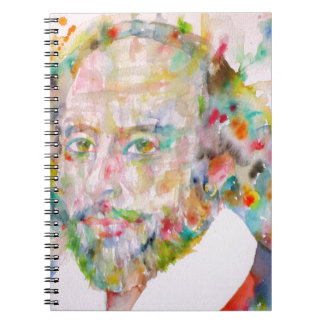 william shakespeare - watercolor portrait.1 notebook