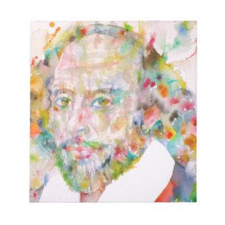william shakespeare - watercolor portrait.1 notepad