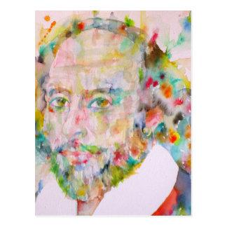 william shakespeare - watercolor portrait.1 postcard