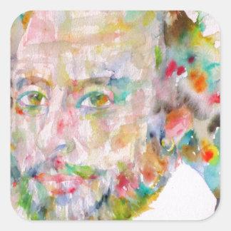 william shakespeare - watercolor portrait.1 square sticker