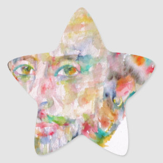 william shakespeare - watercolor portrait.1 star sticker